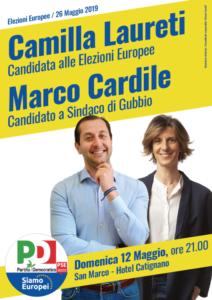 Gubbio Cardile e Laureti elezioni 2019
