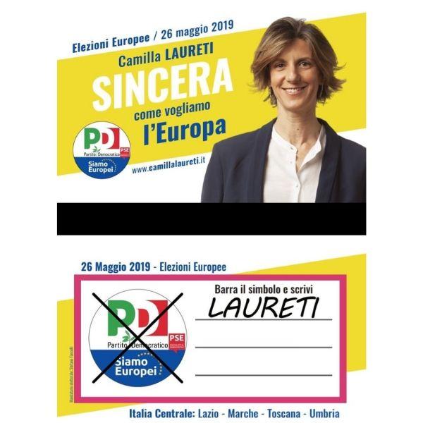 Camilla Laureti fac simile elezioni europee 2019