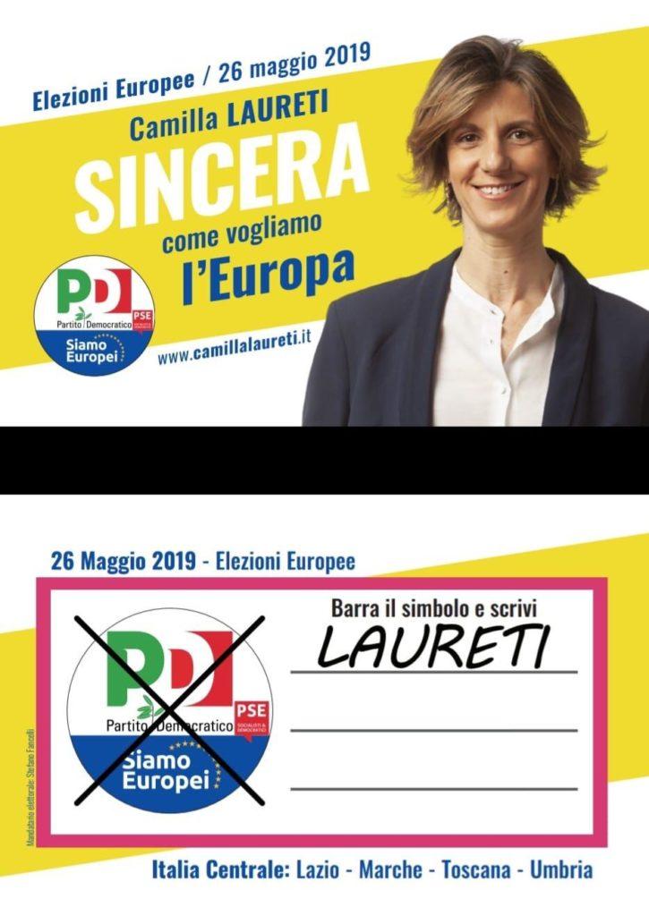 fac simile Laureti elezioni Europee 2019 Partito Democratico dell?Umbria