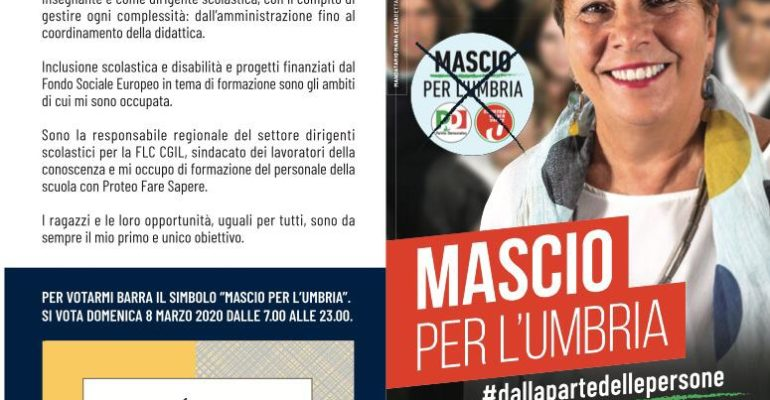 Domenica 8 marzo: tutti a votare MASCIO