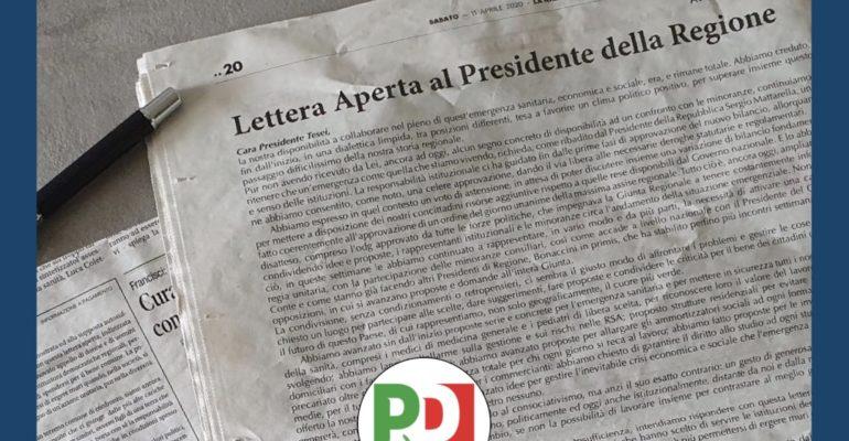 Coronavirus: lettera aperta della minoranza alla Presidente di Regione
