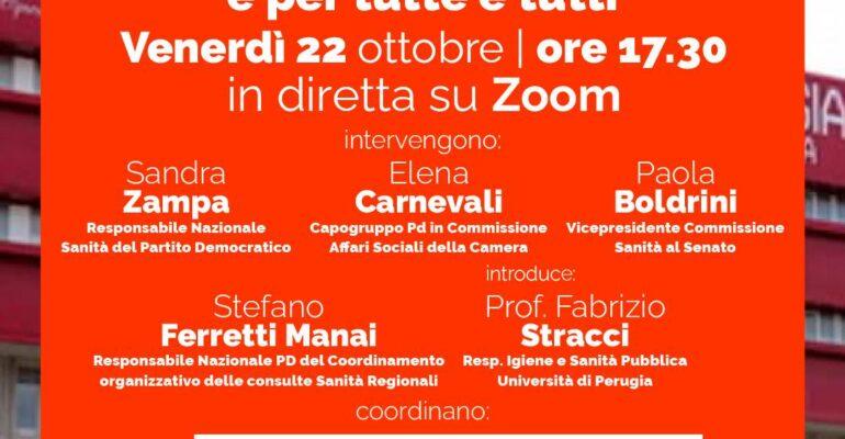 """""""Sanità pubblica: la salute di tutti e per tutti"""". Domani la terza agorà del Pd Umbria"""